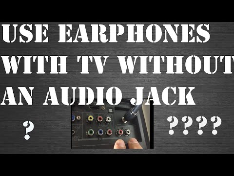 how-to-connect-earphones-to-a-tv-without-a-headphone-jack!?