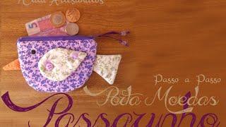 Porta moedas Passarinho