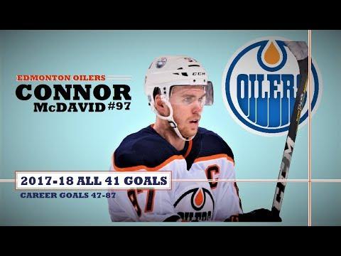 Connor McDavid (#97) ● ALL 41 Goals 2017-18 Season (HD)