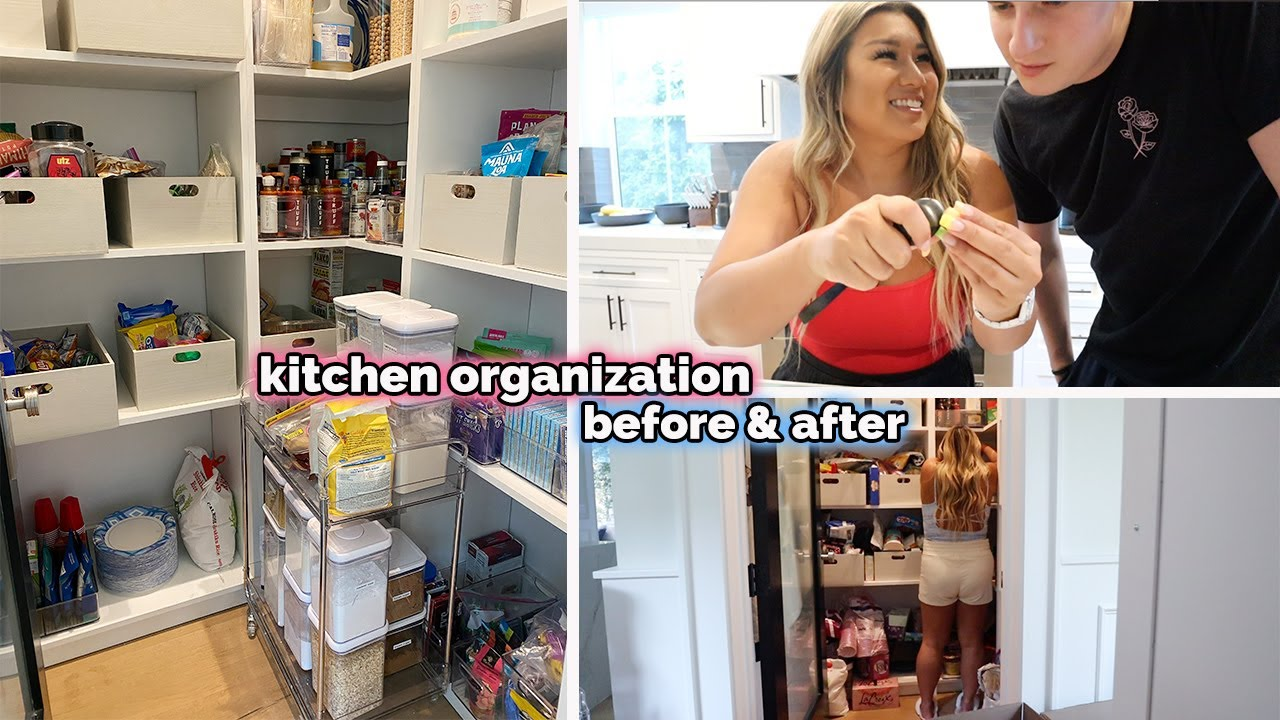 NEW PANTRY TOUR!! kitchen organization before & after!!