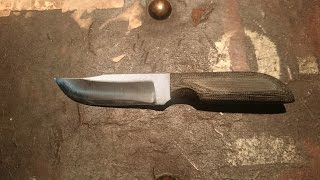 Tabletop review/overview of the Anza LBKM Small Fixed Blade Knife S...