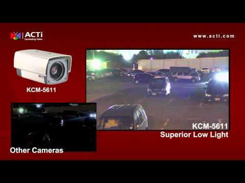 KCM-5611 Outdoor Parking installation in Taiwan - Low light View