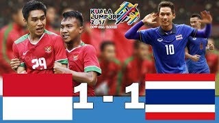 [HD] INDONESIA U22 vs THAILAND U22 1 1   FULL Highlights All Goal   SEA games 2017 Malaysia