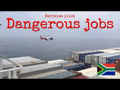 Dangerous Job: Helicopter delivers maritime pilots to
