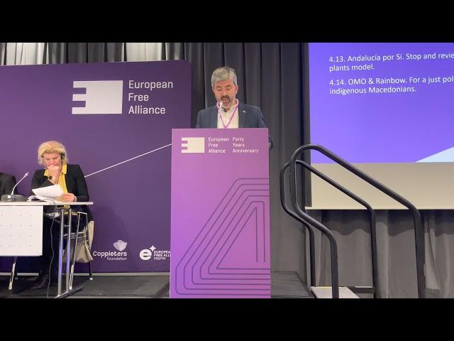 Moción AxSí contra MacroProyectos Fotovoltaicos presentada en Asamblea de Alianza Libre Europea