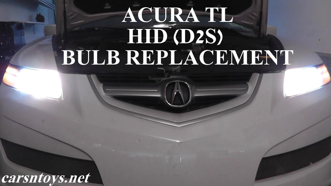 acura tl hid d2s headlight bulb replacement [ 1280 x 720 Pixel ]