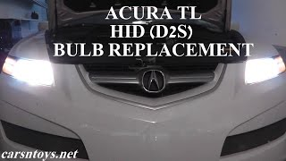 acura tl hid d2s headlight bulb replacement