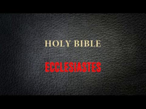 ECCLESIASTES CHAPTER 1  TO  12