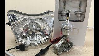 Đèn Led Ks 50W 2 chế độ mầu ô tô xe máy