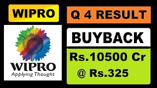 Wipro (Q4 Result) and (BUY BACK) of Rs.10500 Cr at Rs.325 in Hindi by SMkC