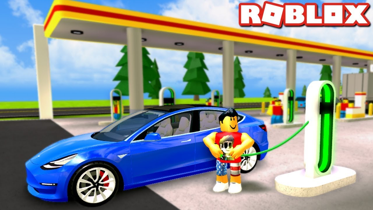 Charging Teslas In Gas Station Simulator Roblox Youtube