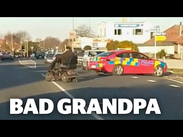 Bizarre police pursuit of a man riding a mobility scooter | nzherald.co.nz