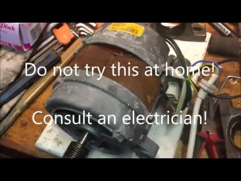 how to wire a washing machine motor direct