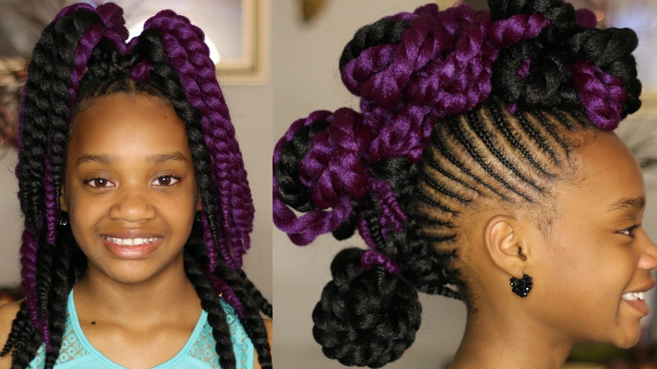Crochet Braids Kid Friendly : Easy Kid Friendly Styles for Crochet Braids MissKenK - YouTube