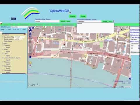 Integration of OpenWebGIS with OpenStreetMap and Wikipedia
