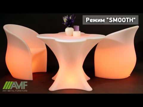 Светящаяся мебель: стулья, столы, лампы. Обзор светящейся мебели из акрила от Amf.com.ua
