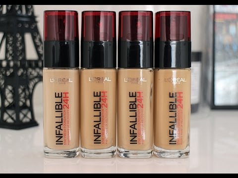 L'oreal Paris Infallible Foundation Review - YouTube