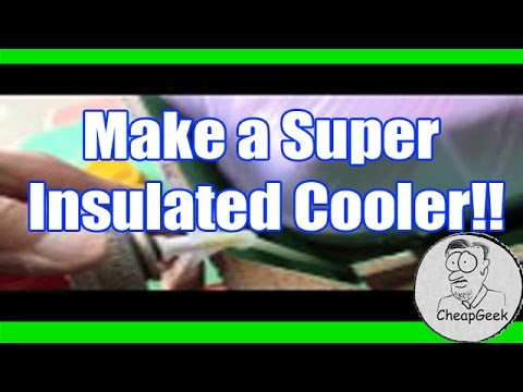 Make A Super Insulated Van Console Cooler Box With Spray