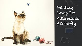 How to paint lovely pets | Siamese Cat