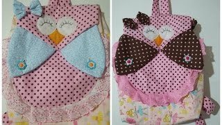Como fazer mochila infantil de coruja (how to make a backpack) Juliana Dantas