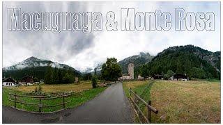 Италия: деревня Macugnaga и гора Monte Rosa