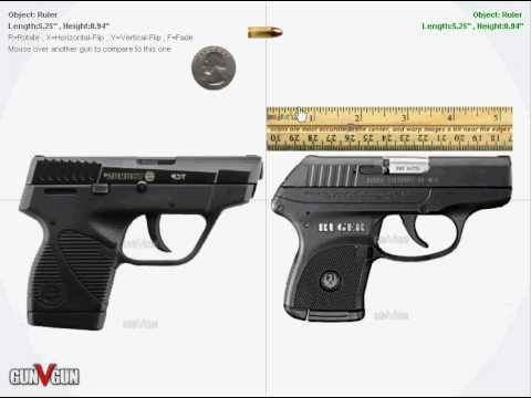 Interactive Comparison Taurus Tcp Vs Ruger Lcp