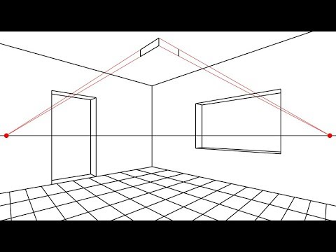 Prospettiva Accidentale #2 STANZA . ROOM IN ANGULAR PERSPECTIVE - YouTube