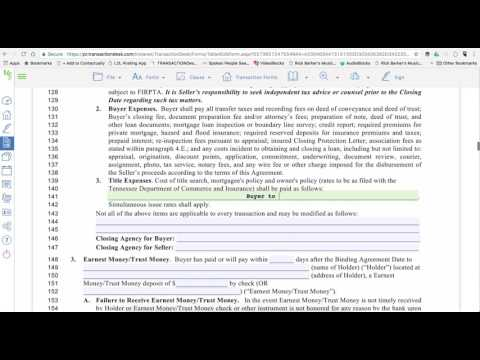 How to Complete Buyer's Offer Paperwork Transaction Desk Tutorial Tennessee KAAR