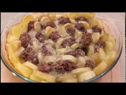 Boulettes De Viande Hachee Et Pommes De Terre Au Four Youtube
