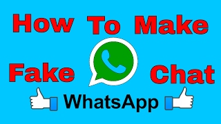 How to create Whatsapp fake chats - Create like a real in 5 minutes! - Dm tutorials
