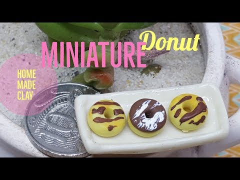 Making Simple Miniature Donuts with Homemade Clay - DIY