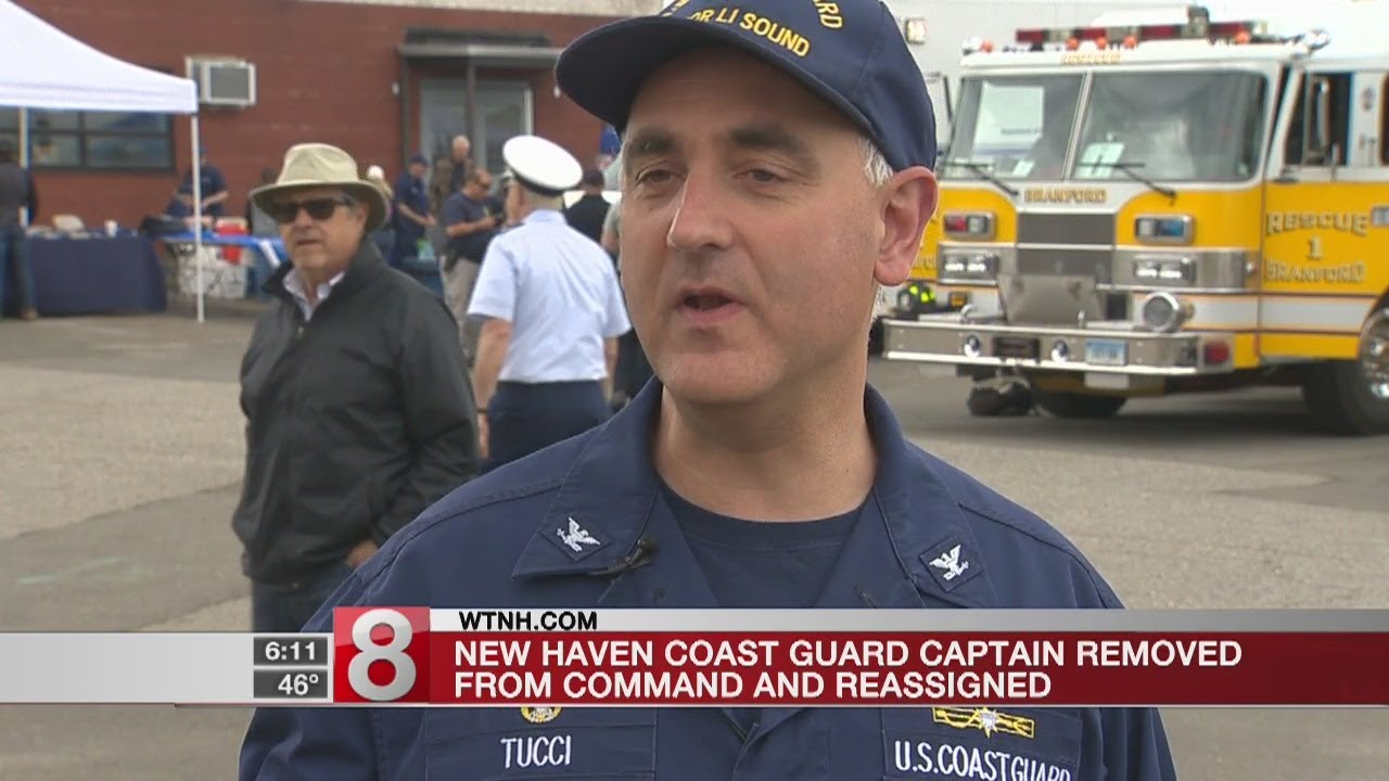 New Haven Coast Guard Captain removed from command, reassigned - Dauer: 19 Sekunden