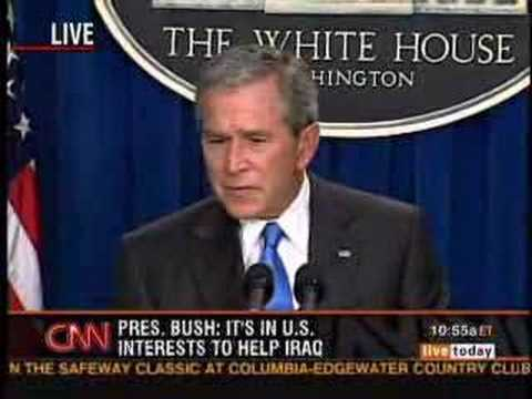 Bush admits that Iraq Had Nothing To Do With 9/11
