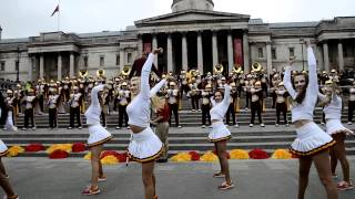 USC Trojan Marching Band LMFAO Party Rock Trafalgar Square