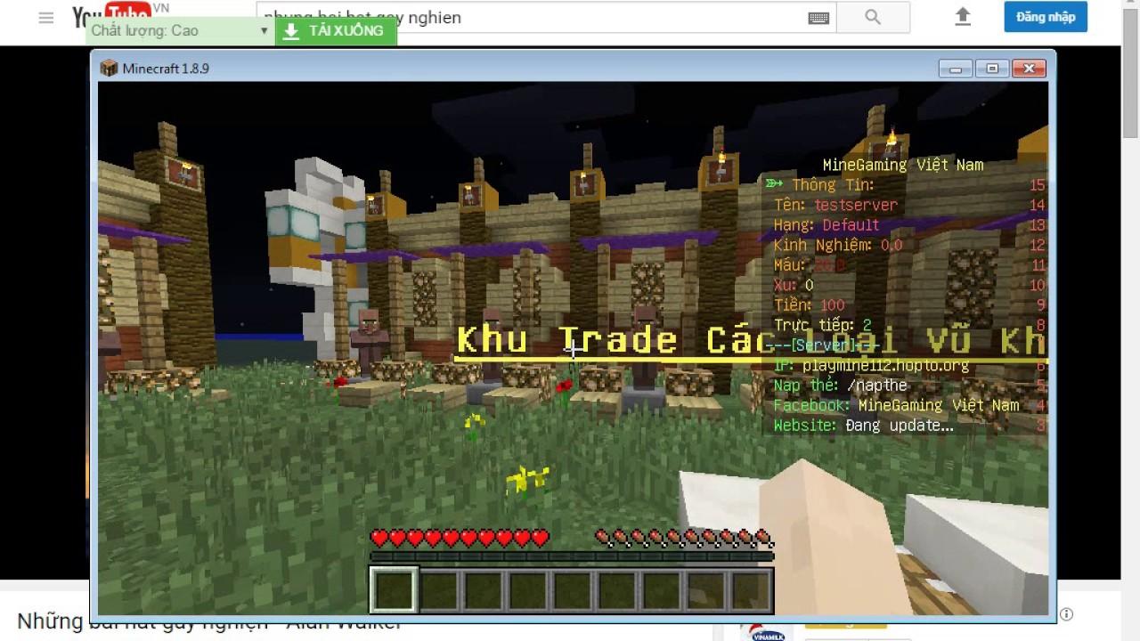 Giới Thiệu Server Minecraft Vn 100.100 tới 100.100100x - YouTube