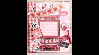 Kissing Booth Mini Album Tutorial Part 5 - Start & Finish of pages 3 & 4