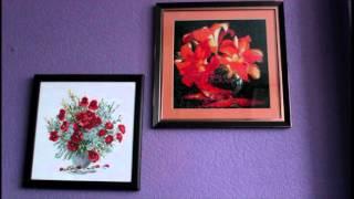Цветы лета. Алмазная живопись. Картины оформленные и которые я наконец повесила на стену.