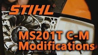 Stihl MS201T C-M Muffler and Timing Modification