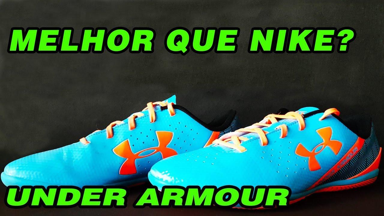 UNDER ARMOUR MELHOR QUE NIKE  - REVIEW CHUTEIRA - YouTube 53b5e200567b7