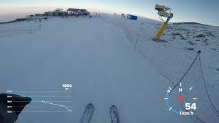 Скоростной спуск 105 км ч на горных лыжах Шахдаг Азербайджан 2019