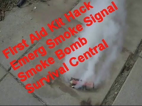How To Make a Smoke Bomb / Smoke Signal No Cooking First Aid Kit Hack