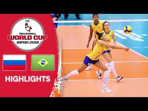 RUSSIA vs. BRAZIL - Highlights | Women's Volleyball World Cup 2019