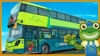 Double Decker Bus Videos For Children | Gecko's Real Vehicles