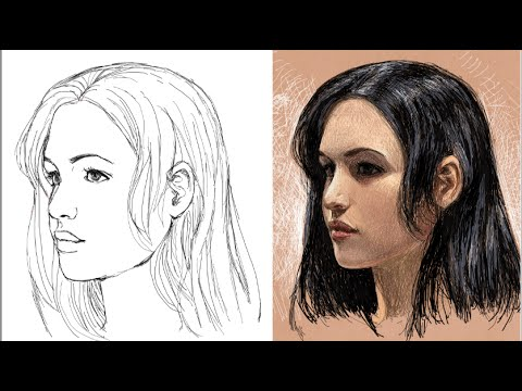 como dibujar la cara de tres cuartos (explicado) - YouTube d8003532ed85