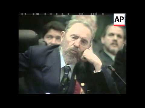 Panama: Castro And Flores Clash At Summit - 2000