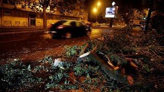 España y Portugal reparan los destrozos de Leslie