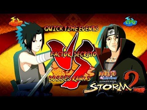 Naruto Shippuden Ultimate Ninja Storm 2 Boss 7 Itachi Rank S | Sasuke vs Itachi Factor Secreto