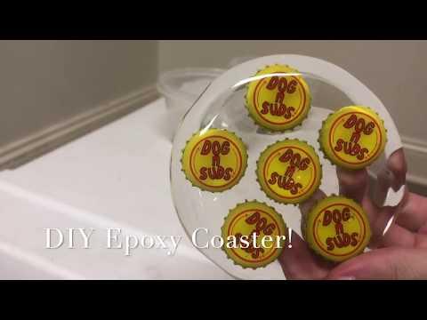 DIY Epoxy Bottlecap Coasters