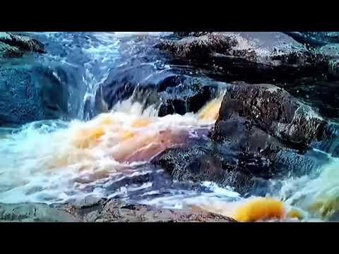 Релаксация. Природа. Водопад.