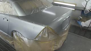 How to paint ultra fine flakes rainbow part 1 / ベンツ・SLK230 で カスタムペイント